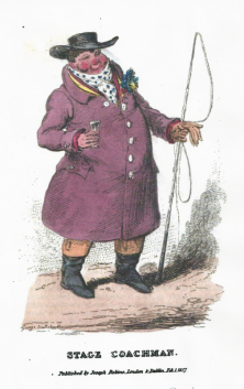 Stage coachman by George Cruikshank
